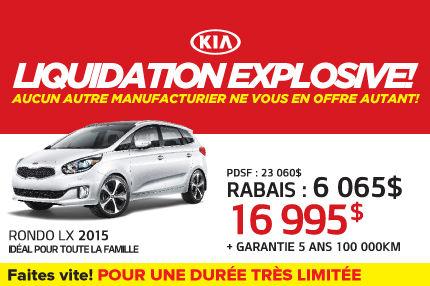 Le Kia Rondo LX 2015 à 16 995$