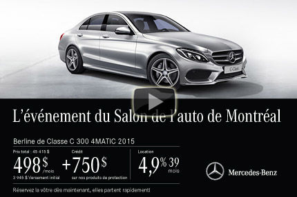 Classe C 300 de Mercedes-Benz: paiements mensuels de 498$