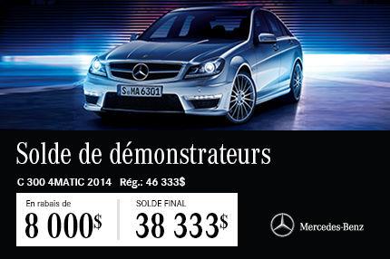 Classe C 300 de Mercedes-Benz DEMO: en Solde à  38 333$