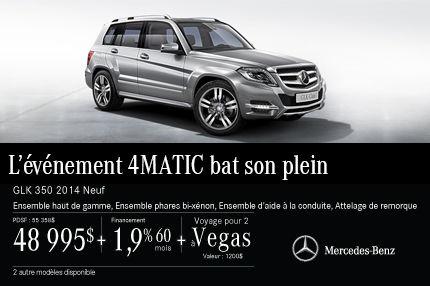 La Mercedes-Benz GLK DEMO: à vous pour 48 995$