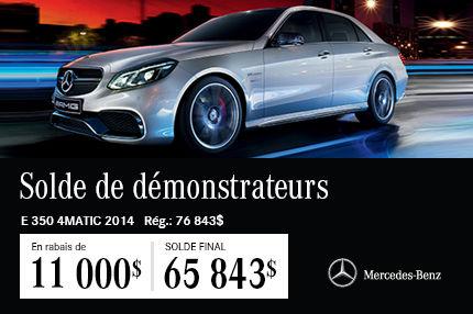 La Mercedes-Benz E350 DEMO: en Solde à 65 843$$