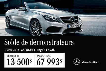 La Mercedes-Benz E350 Cabriolet: en Solde à 67 993$