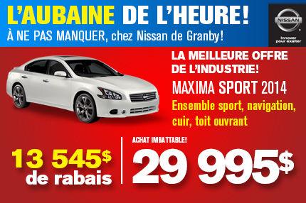 Nissan Maxima  2014: Rabais de 13 545$