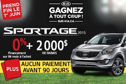 Aucun paiement avant 90 jours sur le nouveau Kia Sportage LX 2015