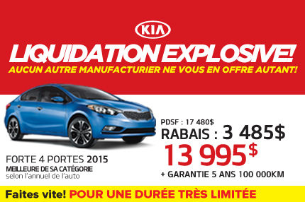La Kia Forte LX 2015 à seulement 13 995$