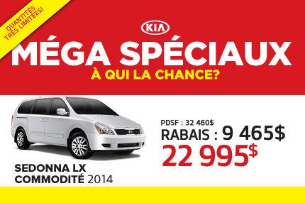Liquidation de Kia: Sedona 2014 à 22 995$