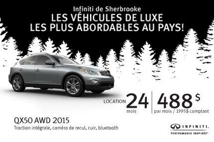 Locations exceptionnelles chez Infiniti Sherbrooke: QX 50 à 488$/mois