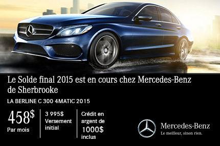 Classe C 300 de Mercedes-Benz: paiements mensuels de 458$