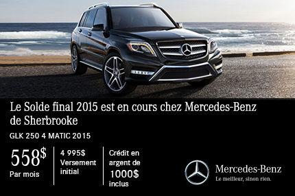 La Mercedes-Benz GLK 250 2015 à vous pour 558$ par mois