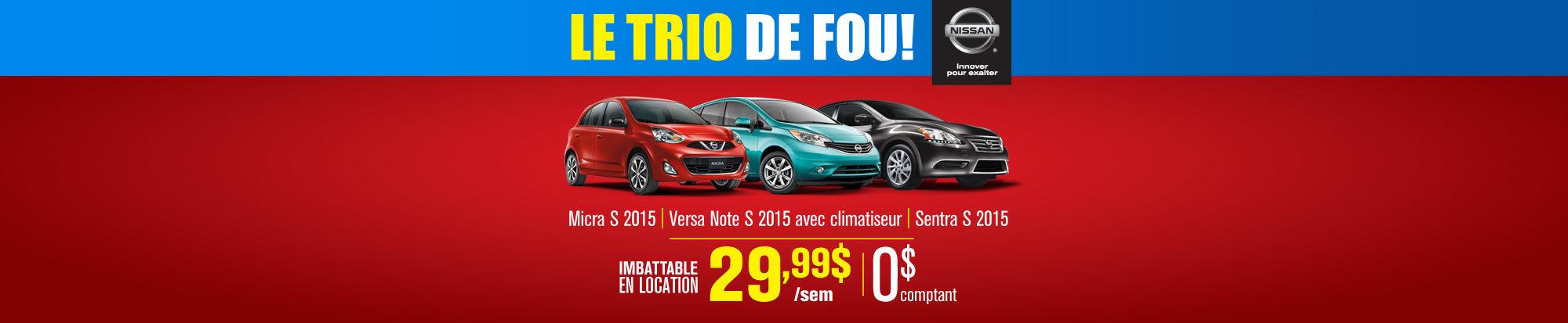Trio de Fou 29,99