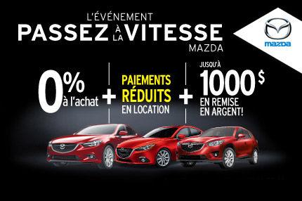 Une garantie révolutionnaire sur nos modèles Mazda ET jusqu'à 1000$ en remises!