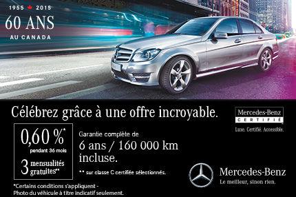 Célébrez les 60 ans de Mercedes-Benz avec nous!