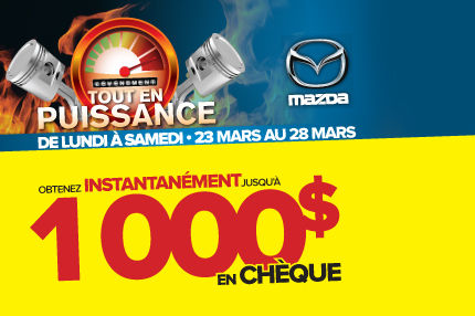 L'événement TOUT EN PUISSANCE de Madza: Jusqu'à 1000$ de remise en argent !