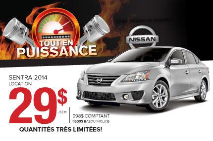 Nissan Sentra 2014 à compter de 29$ par semaine