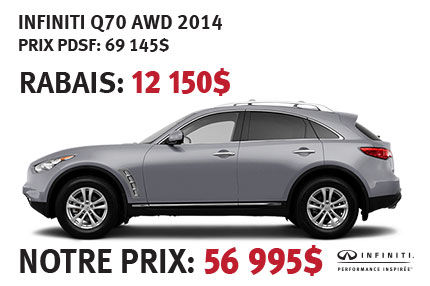 Infiniti Q70 AWD 2014 à partir de seulement 56 995$