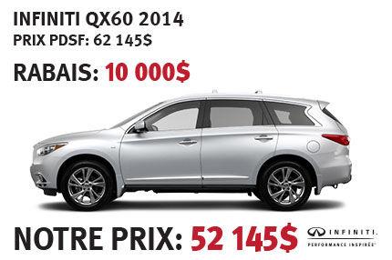 Infiniti QX60 AWD 2014 à partir de seulement 52 145$