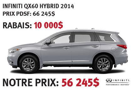 Infiniti QX60 Hybride 2014 à partir de seulement 56 245$