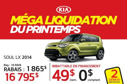 Liquidation Kia Soul 2015 à 16 795$