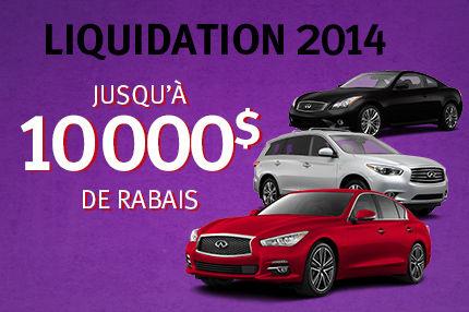 Liquidation des Infiniti 2014: Jusqu'à 10 000$ de rabais !!!