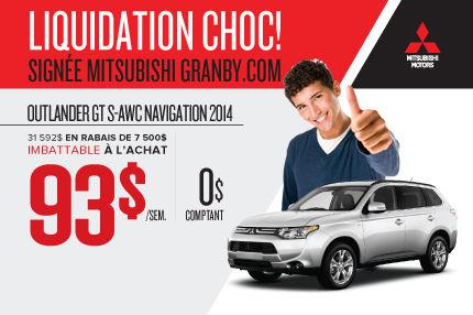 Dernier Mitsubishi Outlander GTS 2014 seulement chez Mitsubishi Granby (Copie)