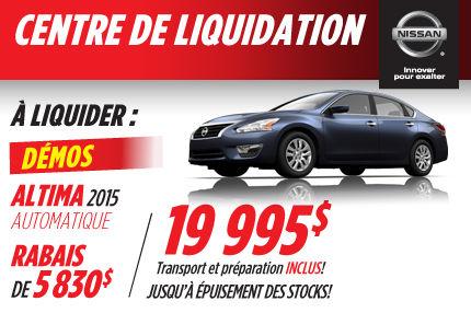 Nissan Altima 2015 en rabais à 19 995$