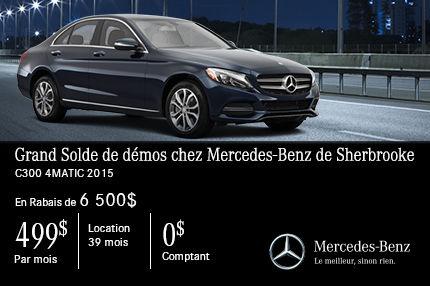 Mercedes C300 4MATIC 2015 en rabais de 6 500$