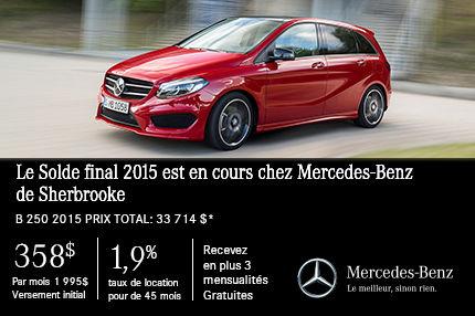 Solde final 2015: la toute nouvelle B250 2015 à un prix jamais vu!