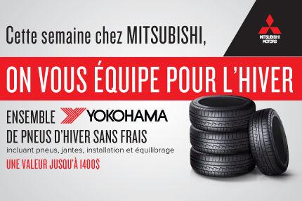 Ensemble de pneus d'hiver gratuits chez Mitsubishi