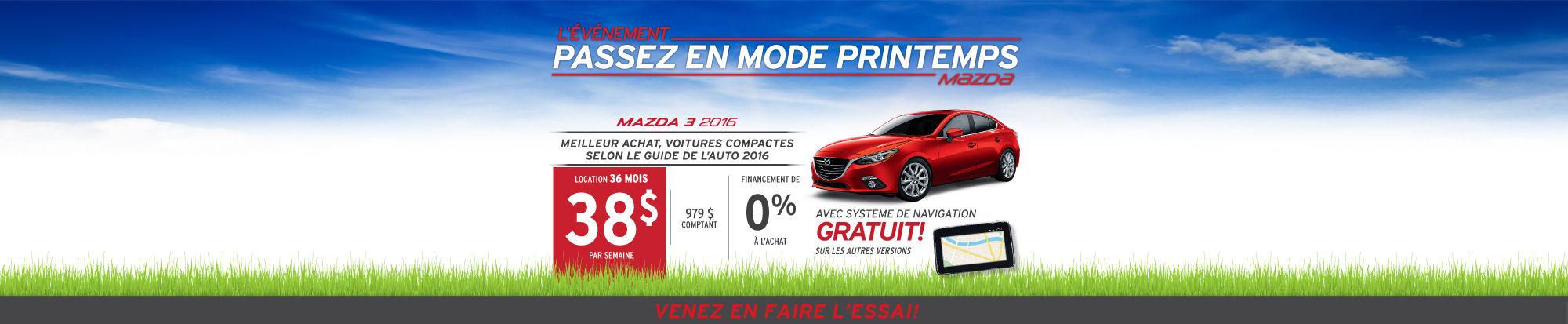 Mazda3 2016 en location
