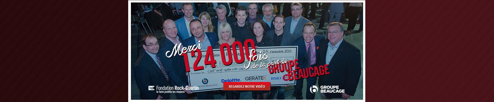 Merci 124 000 fois!