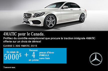 4MATIC pour le Canada: Classe C 300 4MATIC 2015