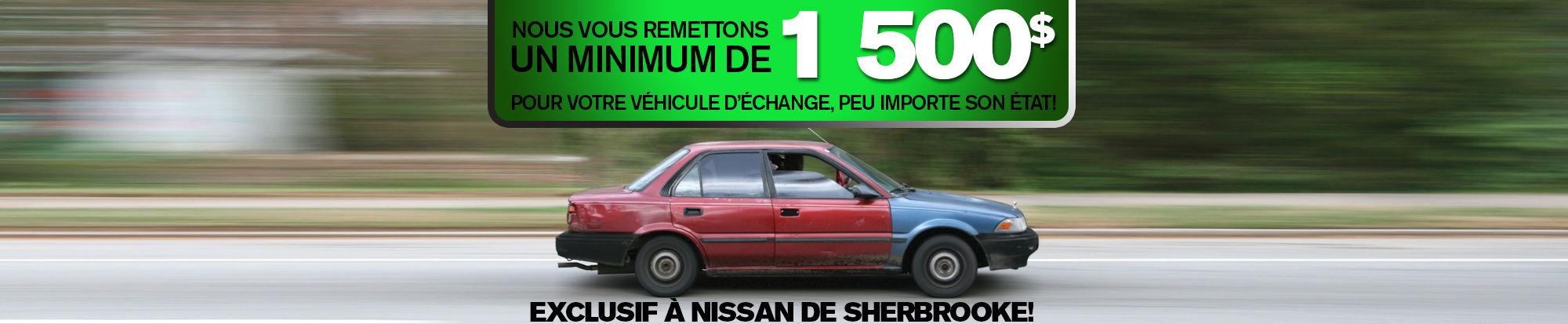 Minimum de 1 500$  pour votre véhicule d'échange! (Copie)