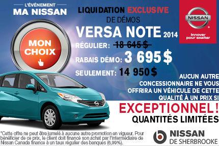La Nissan Versa Note démo 2014 à seulement 14 950$