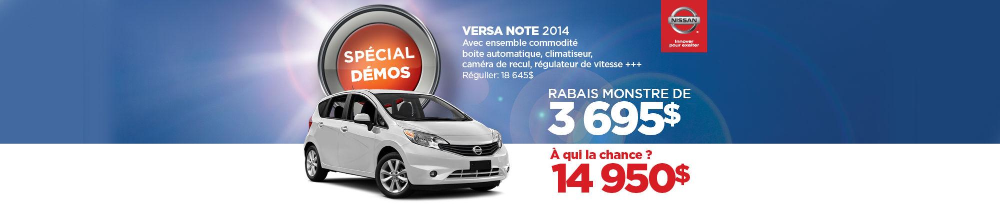 La Nissan Versa Note démo 2014 à seulement 14 950$ (Copie)