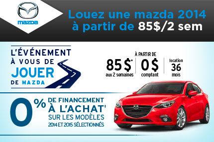 L'événement à vous de jouer de Mazda!