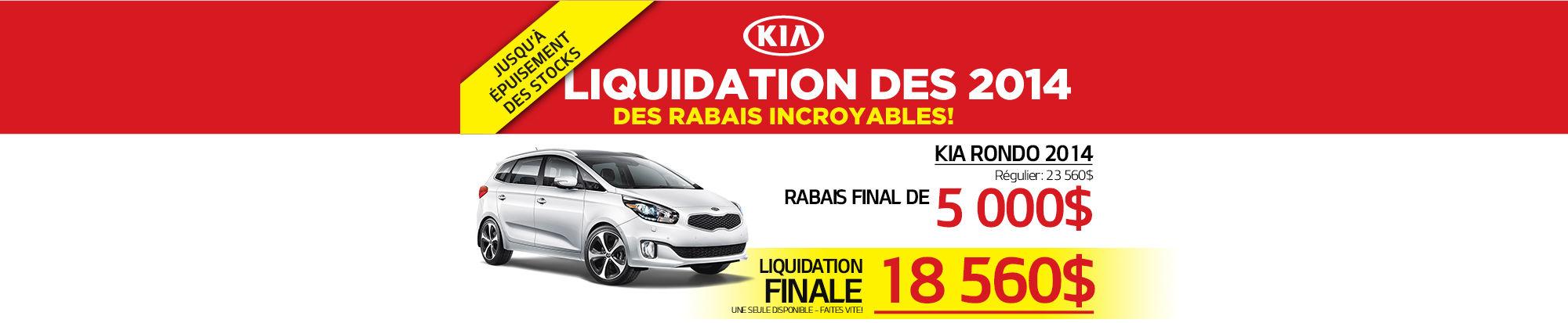 Liquidation de la Kia Header