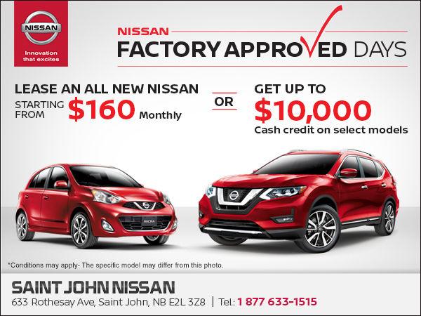 Nissan Factory Approved Days! | Saint John Nissan