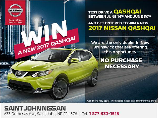 Saint John Nissan >> Win A New 2017 Qashqai Saint John Nissan