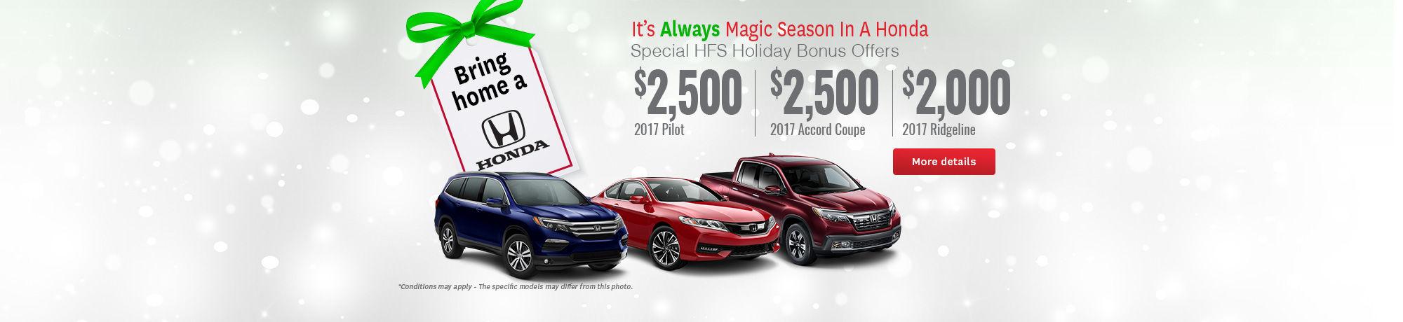 Bring Home a Honda - December