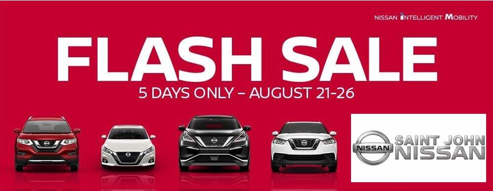 Flash Sale August 21-26 2019