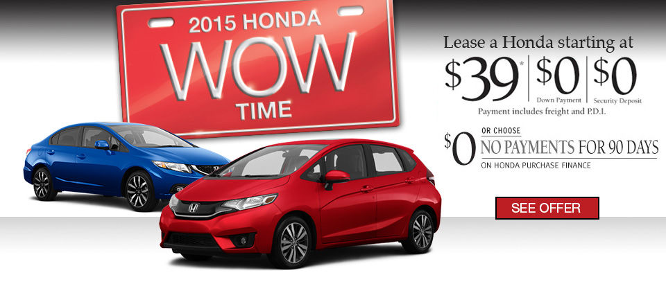 Take advantage of Bruce Honda's Wow Sales Event! -EVENT