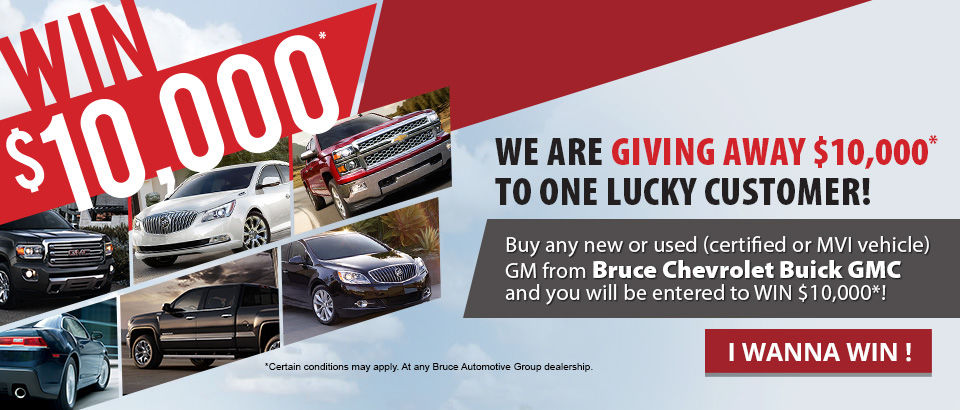 We are giving away $10,000 - GMC