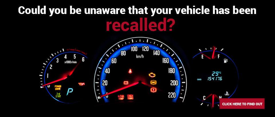 Vehicle recalled