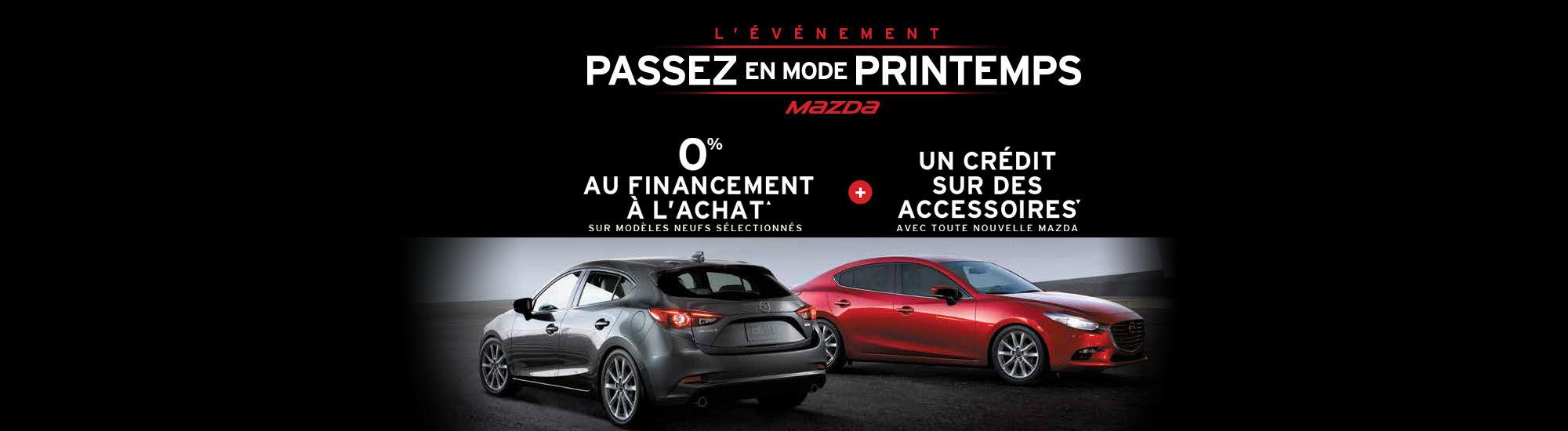 L'événement passer en mode printemps Mazda