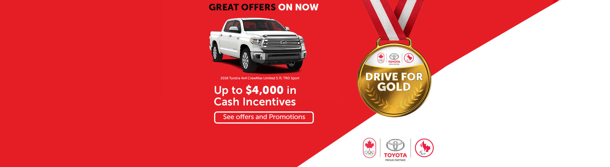 Drive for gold Toyota