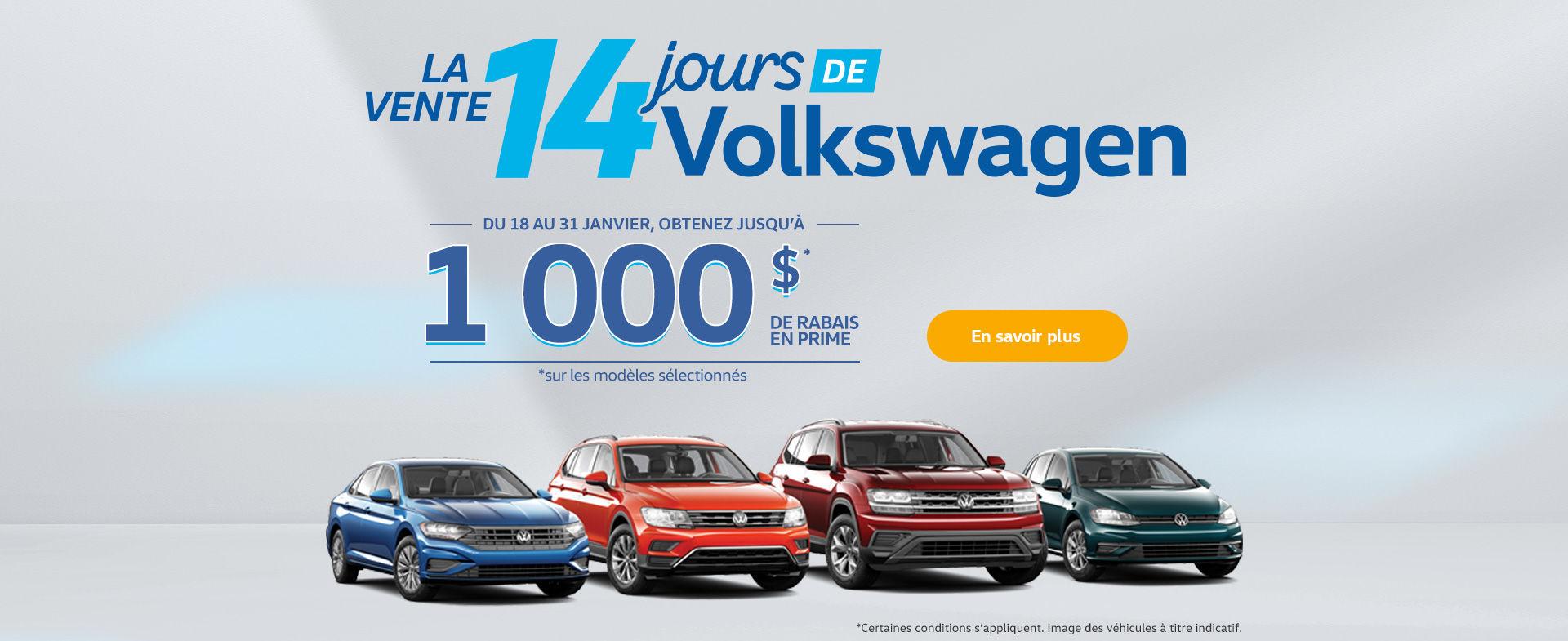 L'événement salon de l'auto Volkswagen!