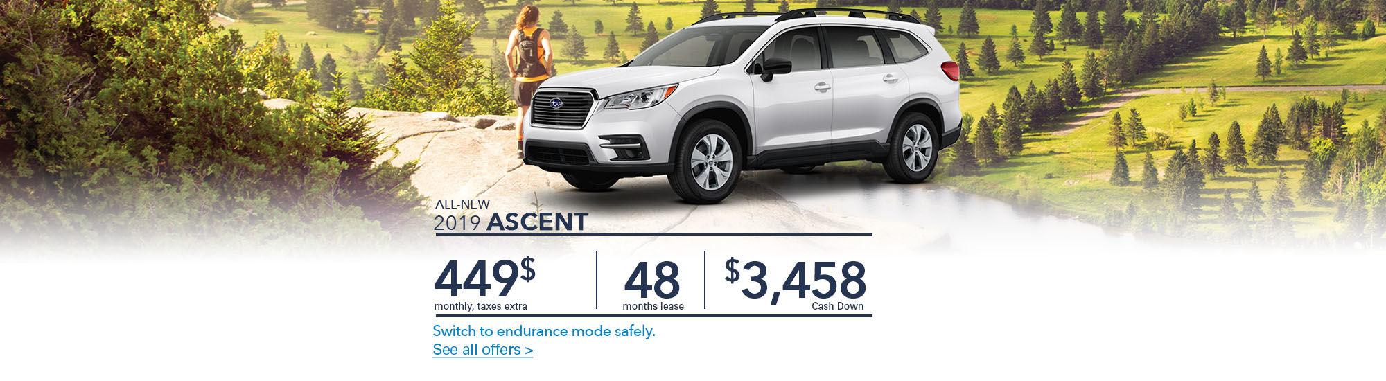 All-new 2019 Ascent   Subaru