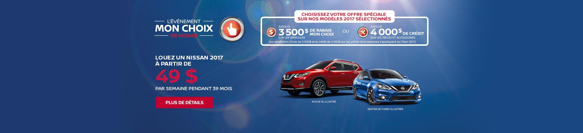 Événement Mon Choix Nissan Promo Mars