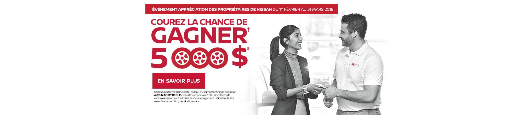 L'événement Appréciation des propriétaires Nissan