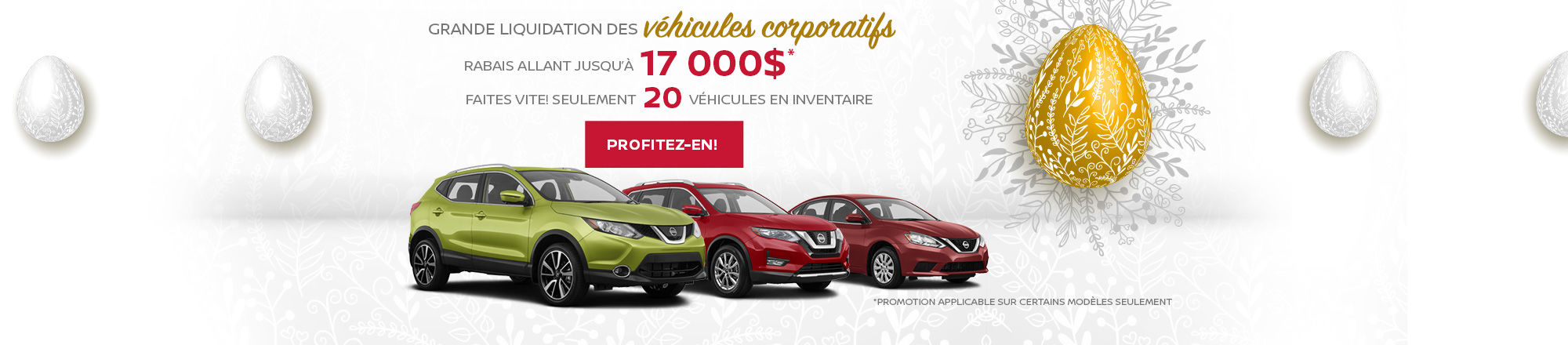 Grande liquidation des véhicules corporatifs